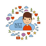 Network people scenary. Icon vector illustration design graphic Stock Photos