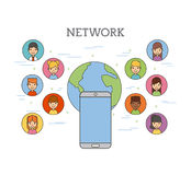 Network people scenary. Icon vector illustration design graphic Stock Photography