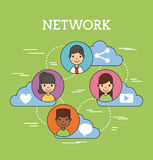 Network people scenary. Icon vector illustration design graphic Royalty Free Stock Images