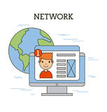 Network people scenary. Icon vector illustration design graphic Stock Image