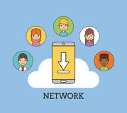 Network people scenary. Icon vector illustration design graphic Royalty Free Stock Photo