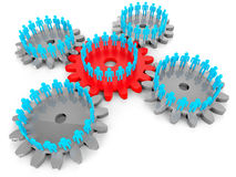 Network Of People Shows Server Connection And Togetherness. Network Of People Indicating Pc Togetherness And Computing Stock Image