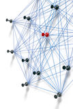 Network with pins Stock Photography