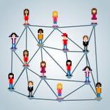 Network pixel design Stock Photo