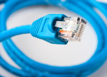 Network plug Royalty Free Stock Images