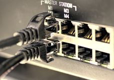 Network Plugs Royalty Free Stock Images