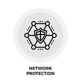 Network Protection Line Icon Royalty Free Stock Photo
