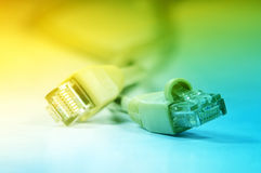 Network rj45 plugin Royalty Free Stock Images