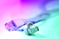 Network rj45 plugin Stock Photo