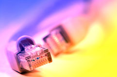 Network rj45 plugin Stock Photos