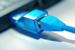 Network rj45 plugins Stock Images