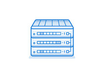 Network router icon Stock Photo