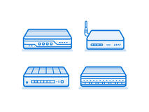 Network router icons Stock Photo