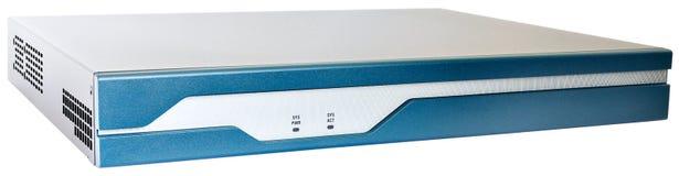 Network router on white Stock Photos