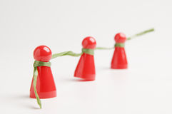 Network in a row Stock Images