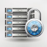 Network Safety Icon Stock Images