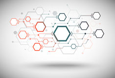 Network same size gradient red green Royalty Free Stock Image