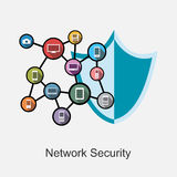 Network security concept illustration. Stock Images