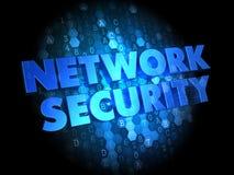 Network Security on Dark Digital Background. Network Security - Text in Blue Color on Dark Digital Background Stock Images