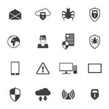 Network Security Icons Stock Photos