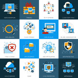Network Security Icons Set Royalty Free Stock Photo
