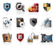 Network security icons Stock Image