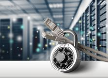 Network Security. Security Internet Computer Network Data Lock Communication Stock Photo