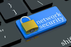 Network Security keyboard button Royalty Free Stock Photography