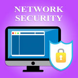 Network Security Represents Global Communications And Computers Royalty Free Stock Photo
