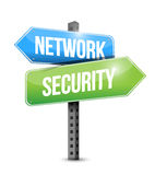 Network security road sign illustration design. Over a white background Stock Images
