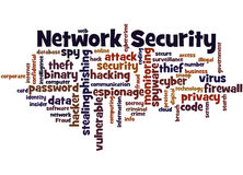 Network Security, word cloud concept 3 Royalty Free Stock Photography