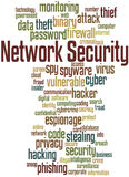 Network Security, word cloud concept Royalty Free Stock Images