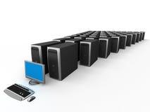 Network Server. Image of Network Server. White background Stock Images