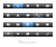 Network & Server // Blackbar Series. +++ The .eps file includes 3 buttons states in different layers Stock Image