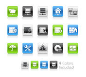 Network & Server // Clean Series. The  file includes 4 color versions for each icon in different layers Stock Photo