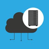Network server concept cloud connection Stock Images
