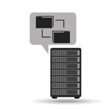 Network server concept transfer files. Vector illustration eps 10 Royalty Free Stock Photos