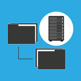 Network server concept transfer files. Vector illustration eps 10 Royalty Free Stock Images
