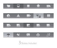 Network & Server // Gelbar Series. +++ The .eps file includes 3 buttons states in different layers Royalty Free Stock Photos