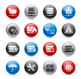 Network & Server // Gelpro Series. Glossy icons for your website or presentations Royalty Free Stock Photography