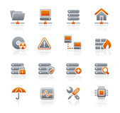 Network & Server // Graphite Icons Series Royalty Free Stock Images