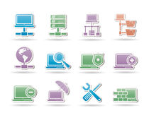 Network, Server and Hosting objects Royalty Free Stock Photos