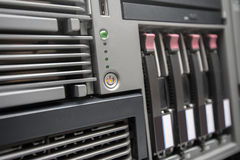 Network Server with Hot Swap Hard Drives Stock Image