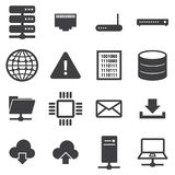 Network and server icon set. Network and server icon set, flat design vector illlustion eps10 Vector Illustration