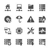 Network and server icon set, vector eps10. Stock Image