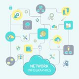 Network And Server Infographics Stock Photography