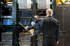 Network server installation Royalty Free Stock Photo