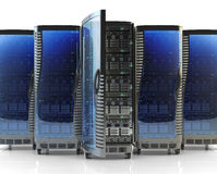 Network server and internet hosting concept Royalty Free Stock Photos