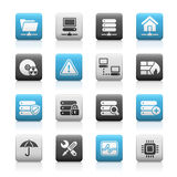 Network & Server // Mate Series. Glossy icons for your website or presentations Stock Photography