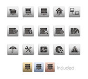 Network & Server // Metallic Series. The .eps file includes 4 color versions for each icon in a different layer Stock Photography